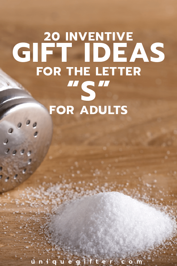 Setting up the world's best scavenger hunt? Use these inventive gift ideas that start with the letter S. | Birthday | Anniversary | Adult