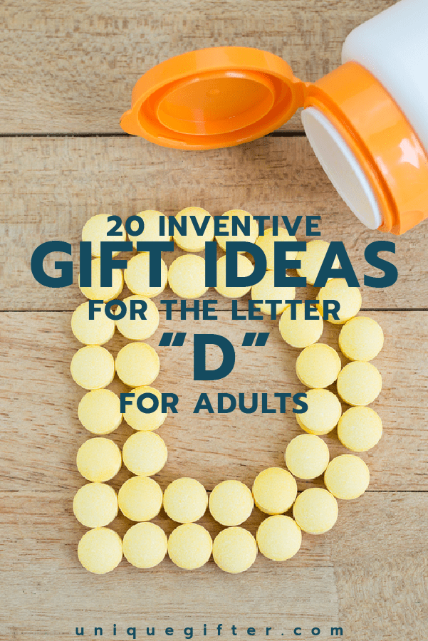 Gift Ideas for the Letter D | Gifts that start with D | Scavenger Hunt Ideas | Theme Party Ideas