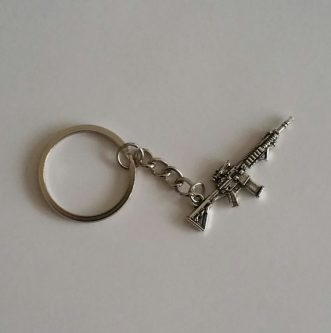 Rifle key chain unique Gift Ideas for the Letter R