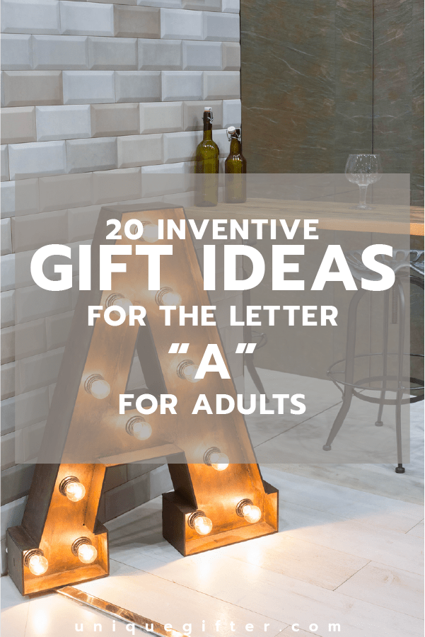 Setting up the world's best scavenger hunt? Use these inventive gift ideas that start with the letter A. | Birthday | Anniversary | Adult | Gifts that begin with the letter A