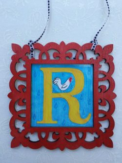 Vintage themed Gift Ideas for the Letter R - R sign