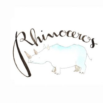 Cute Rhinoceros nonuser decoration Gift Ideas for the Letter R