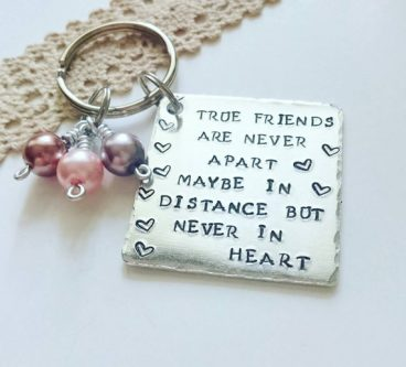 Best friend keyring for your internet friend