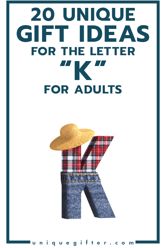Setting up the world's best scavenger hunt? Use these inventive gift ideas that start with the letter K | Birthday | Anniversary | Adult | Gifts that begin with the letter K