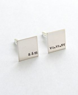 They'll love this letter M gift idea - Men's silver cufflinks