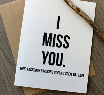 Miss you card great gift idea for long distrance friends