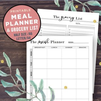 How about a meal planner? Gift Ideas for the Letter M