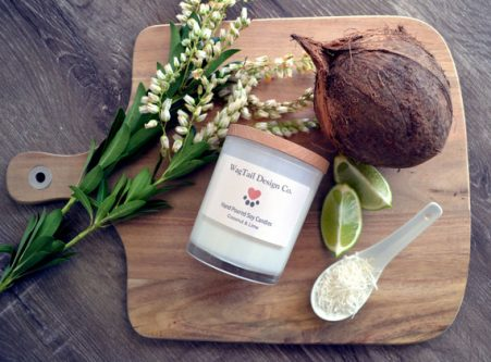 Lime and Coconut Candle - gift ideas for the letter L