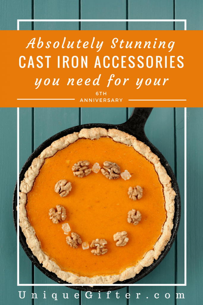 The sixth anniversary is iron - it's the perfect time to get one of these stunning cast iron kitchen accessories as a #gift. | Iron Gift Ideas | Anniversary Presents | 6th Anniversary Gift Ideas