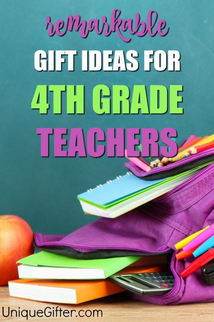 You can shower your child's 4th grade teacher with gifts throughout the year - there's start of the school year gifts, teacher appreciation week gifts, Christmas gifts and finally a huge teacher thank you gift for the end of the school year.
