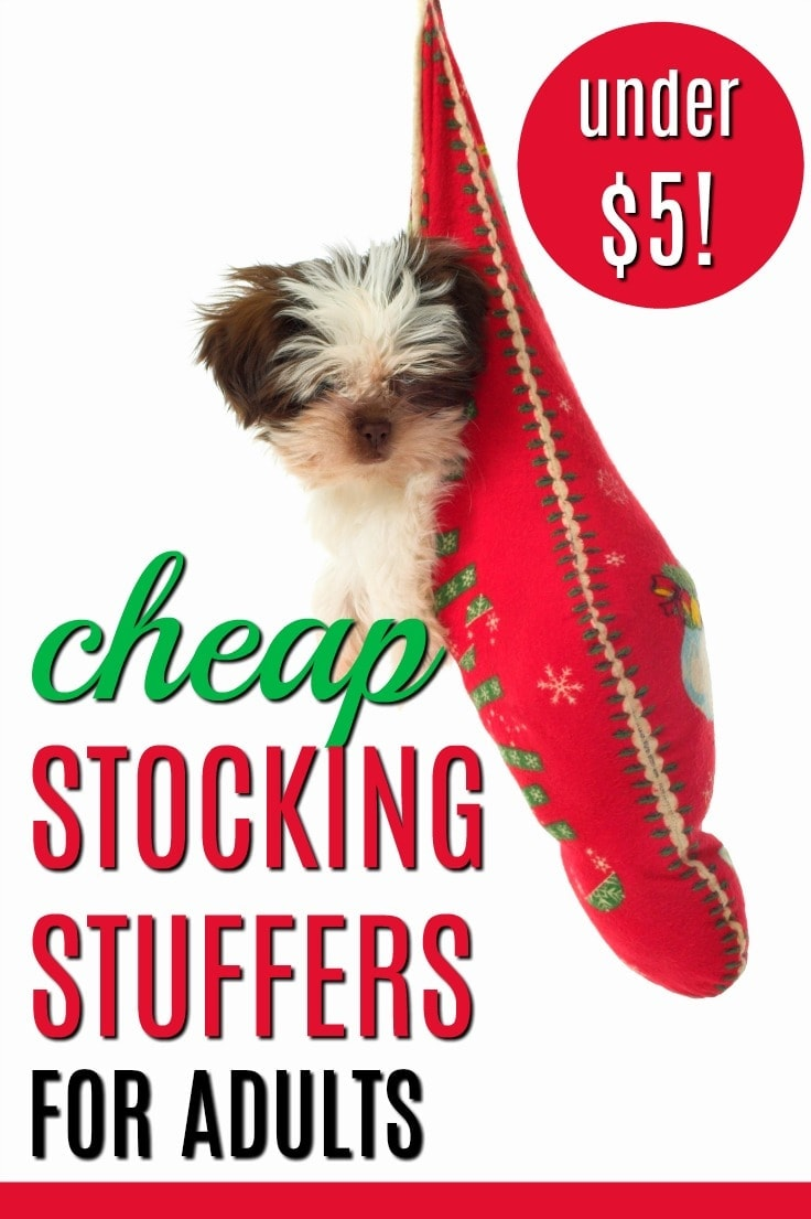 Cheap Stocking Stuffers Under $5 for Adults | Frugal Stocking Stuffer Ideas | Cheap Stocking Fillers | Stocking Stuffers for Adults | Less than $5 Stocking Stuffers | Christmas Budget Tips | How to Spend Less on Christmas