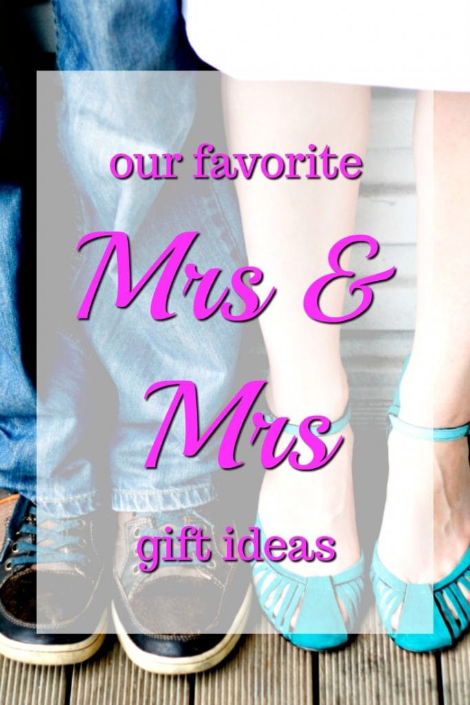 Our Favorite Mrs & Mrs Gift Ideas   Lesbian Wedding Gifts   Gay Wedding Presents   What to get two women for a wedding   LGBTQ Wedding