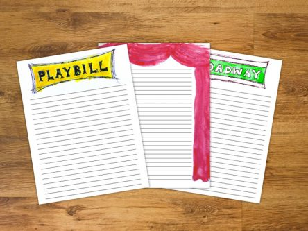 Gift Ideas for a Broadway/Musical Theatre Lover - Stationary set