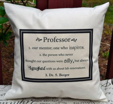 Say thanks to your mentor with a personalized pillow