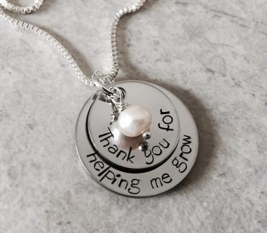 Personalized mentor necklace thank you gift idea for a mentor