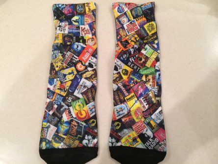Socks are a unique gift idea for Broadway/musical theatre lovers