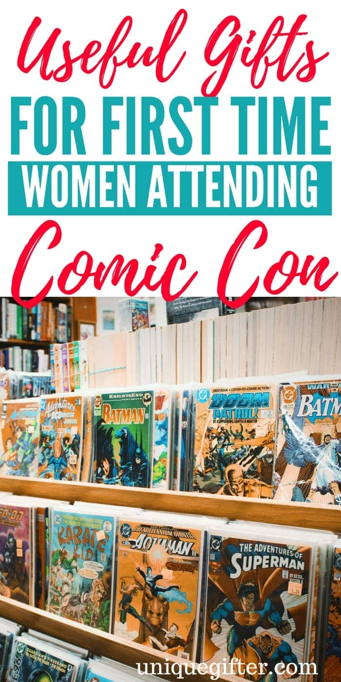 Useful Gifts for First Time Women Comic Con Attendees | What to Buy a First Time Women Going to Comic Con | Comic Con Antendee Gift Ideas | Women Comic Con Attendees Gifts | Presents For First Time At Comic Con | Travel Gift Ideas | #womengifts #travelpresents #Gift