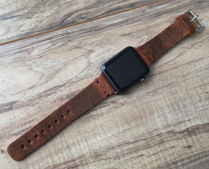 Welders will love this leather Apple watch band gift idea
