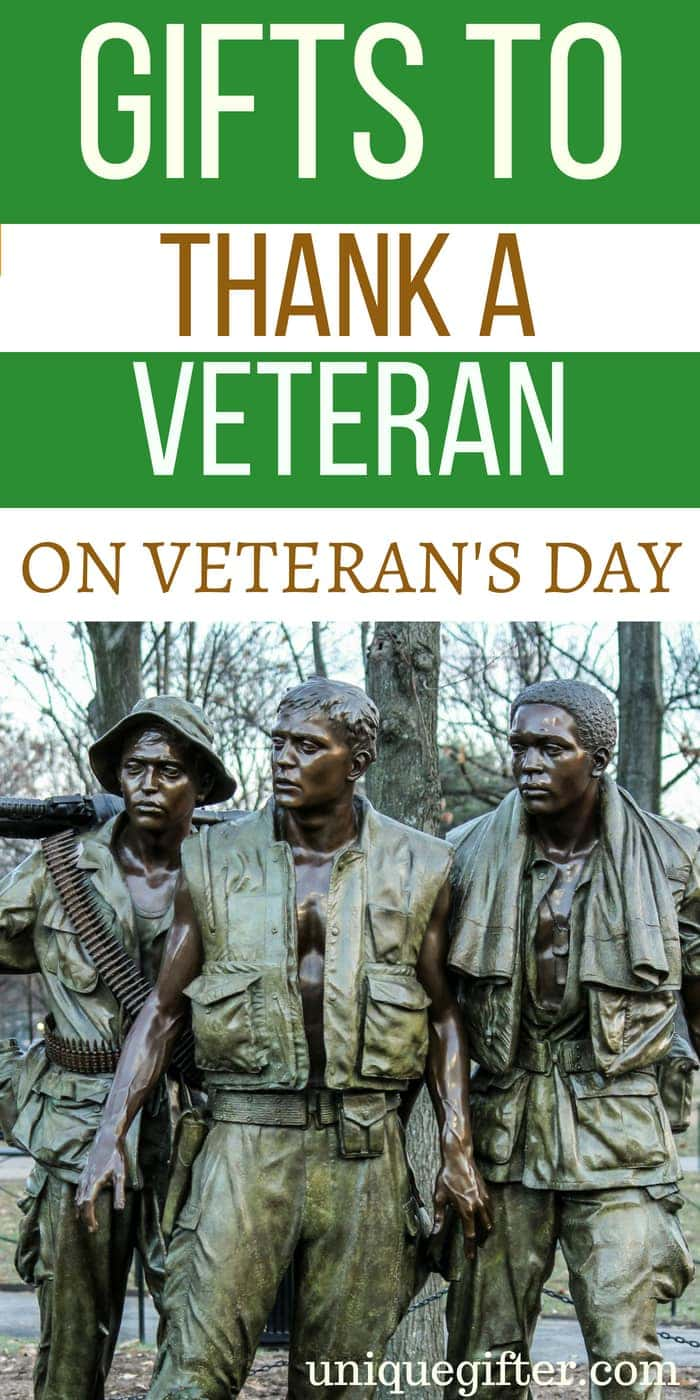 gifts to thank a veteran on veteran's day | What to buy a vet for Veteran's Day | Veteran's Day Gift Ideas | Special gifts for a Veteran on Veteran's Day | Unique Presents to Buy a Veteran | Thank You Gifts For Someone Who Has Served In Military #GiftIdeas #Veteran #Holiday