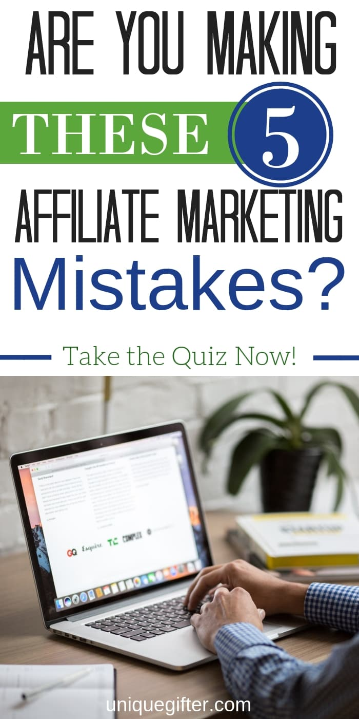 Are you making these mistakes? I was and I'm so glad that I learned how to fix them all! My affiliate marketing income from my blog has increased since I figured them all out. Take the quiz now so you can learn from my mistakes and set yourself up for success.