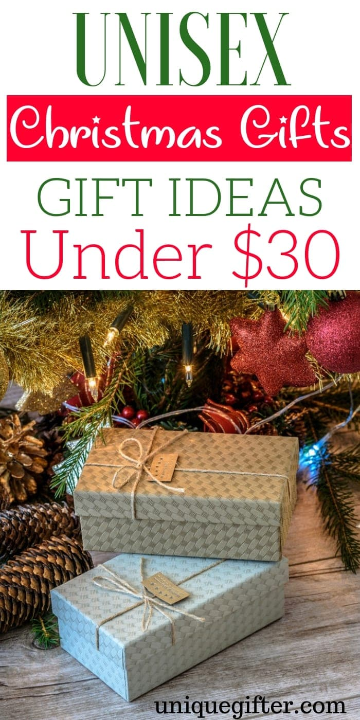Unisex Christmas Gift Ideas Under $30 | What are some unisex gift ideas under $30 | Christmas Gifts Under $30 | What to buy for Christmas under $30 | Christmas Gifts that are unisex | Unisex Christmas Presents that are affordable | Unique Unisex Christmas Presents #Unisex #ChristmasGifts #Affordable