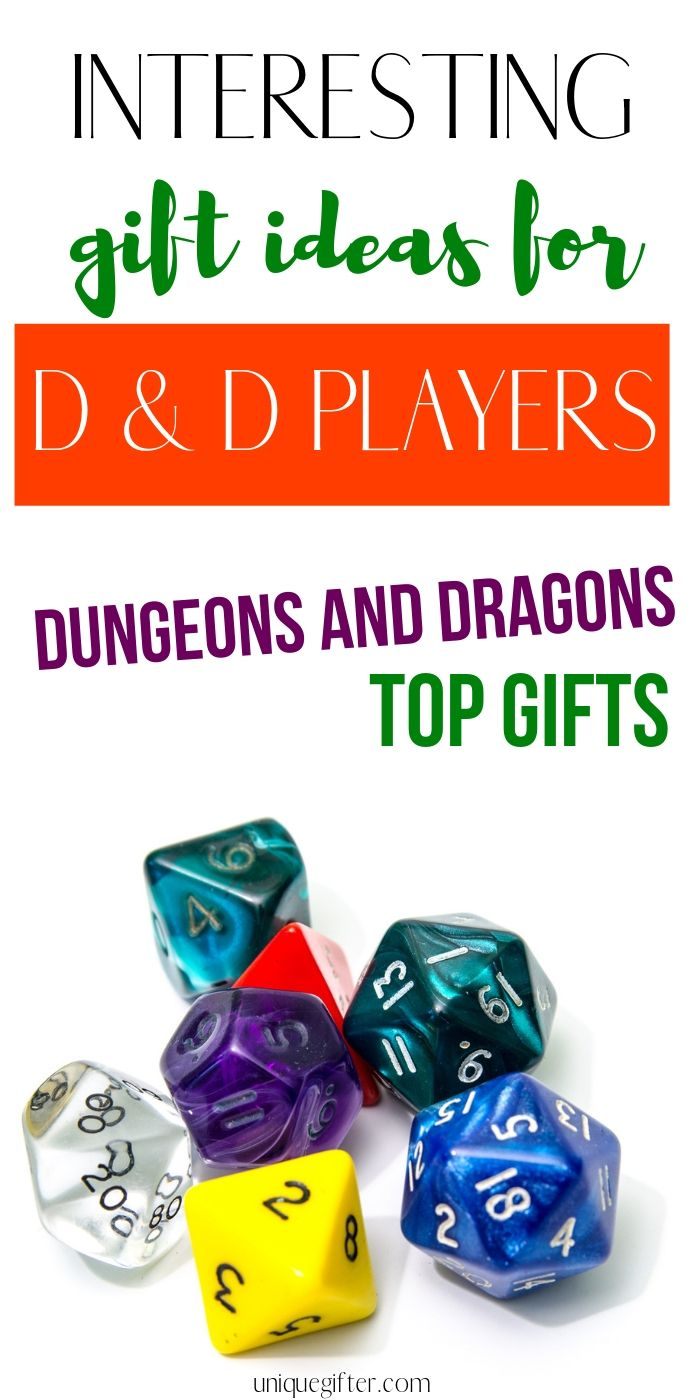 Gift Ideas for D&D Players | Dungeons and Dragons gift ideas for your boyfriend or girlfriend D and D gifts for teens | Gamers | Birthday Gifts | Christmas Presents | Fun Gamer Gifts #gifts #gamer #nerd #geek #DandD