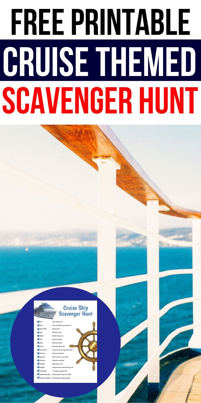 Free Printable Scavenger Hunt For A Cruise | Scavenger Hunt | Young Kids Scavenger Hunt | Children's Scavenger Hunt | Easy Scavenger Hunt | Cruise Scavenger Hunt | #scavengerhunt #easy #kids #unique #cruise
