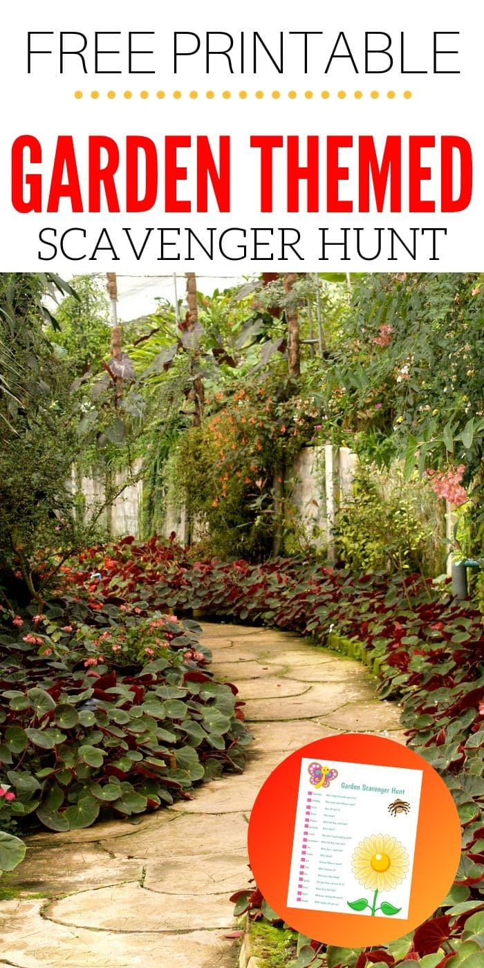 Free Printable Garden Scavenger Hunt | Easy Kids Scavenger Hunt | Scavenger Hunt | Gardening For Kids | Unique Scavenger Hunt | Creative Scavenger Hunt | #kids #scavengerhunt #garden #free #printable