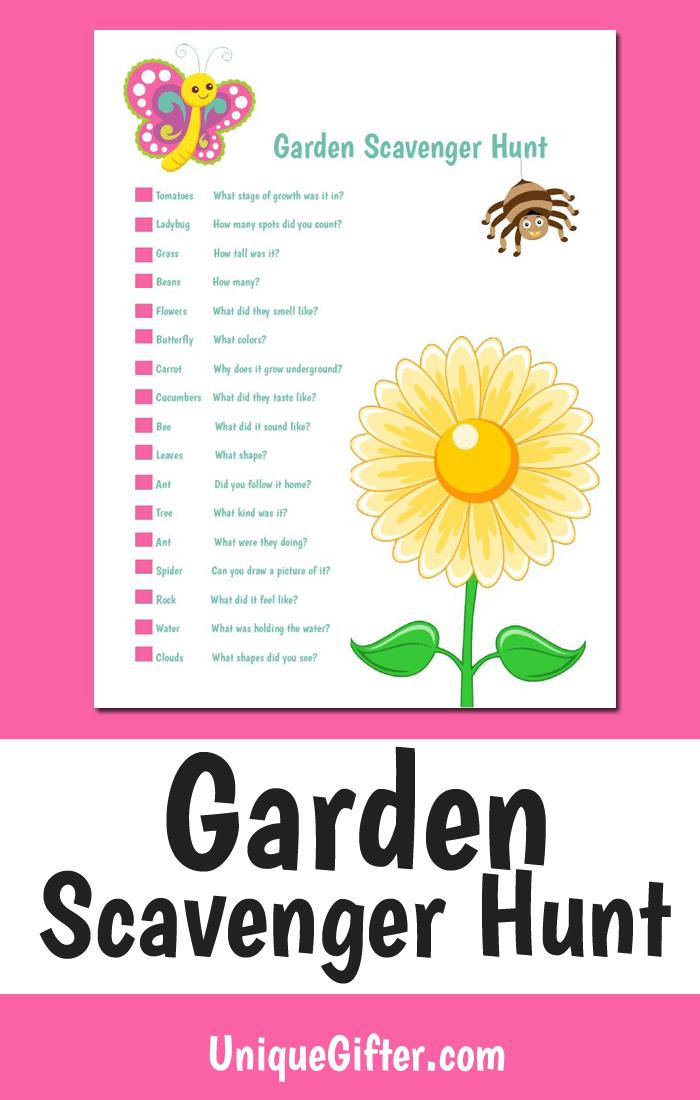 Free Printable Garden Scavenger Hunt | Easy Kids Scavenger Hunt | Scavenger Hunt | Gardening For Kids | Unique Scavenger Hunt | Creative Scavenger Hunt | #kids #scavengerhunt #garden #free #printable