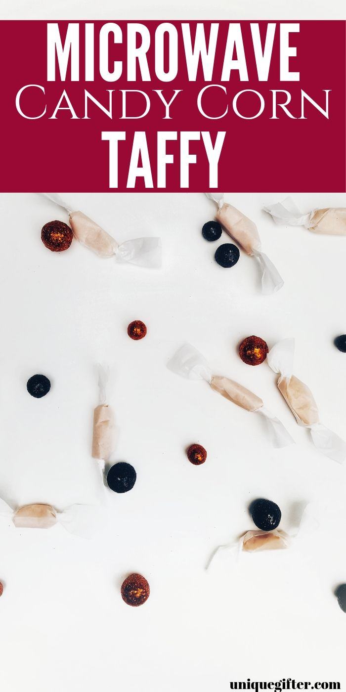 Microwave Candy Corn Taffy   DIY Taffy   Make Your Own Taffy   Homemade Taffy   Easy Taffy   Quick Taffy   Microwave Taffy   Candy Corn Recipe   #candy #easy #tafffy #unique #holiday