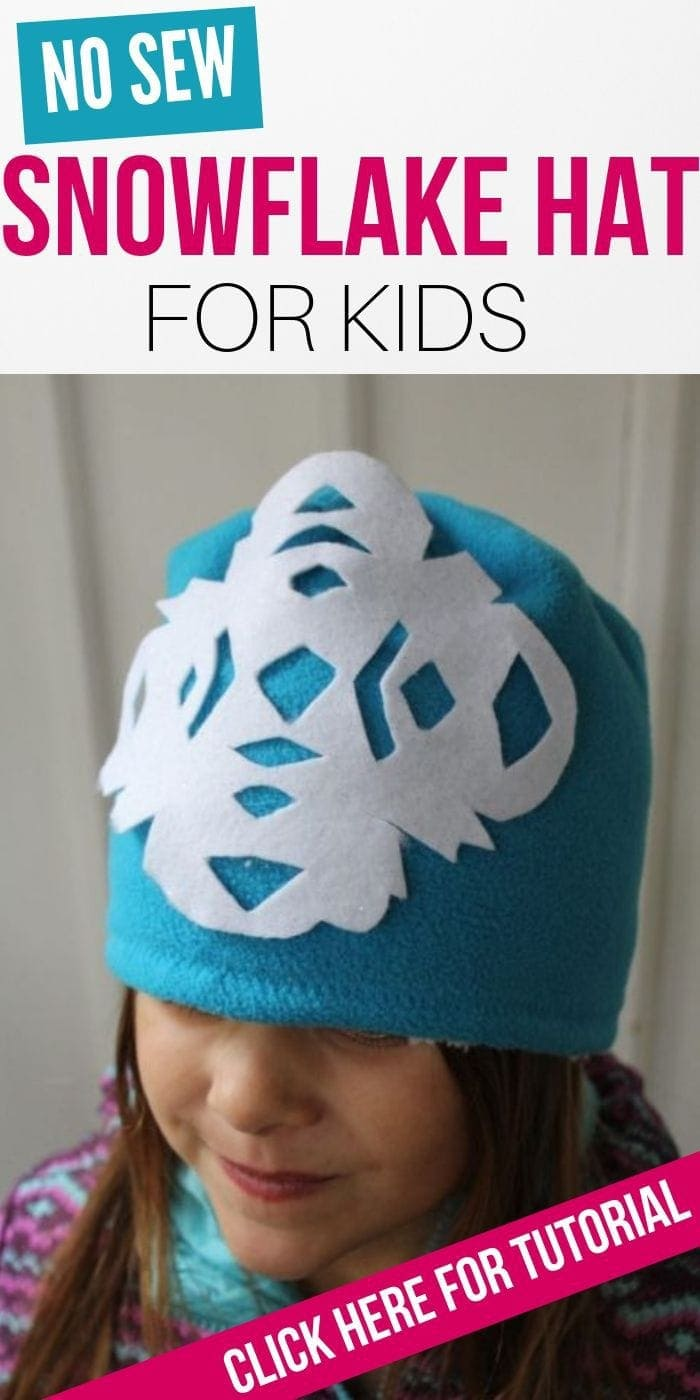 No Sew Snowflake Hat For Kids | Kids Hat | Winter Hat | Fleece Hat | No Sew Hat | No Sew Easy Fleece Hat | #unique #nosew #easy #kids #hat