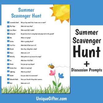 FREE Printable Summer Scavenger Hunt   Kids Scavenger Hunt   Summer Scavenger Hunt   Printable   Easy Scavenger Hunt   Unique Scavenger Hunt   #scavengerhunt #easy #fun #kids #summer