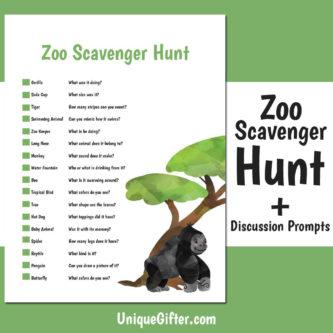 FREE Printable Zoo Scavenger Hunt   Free Scavenger Hunt   Zoo Scavenger Hunt   Easy Kids Scavenger Hunt   Animal Scavenger Hunt   Fun Scavenger Hunt   #scavengerhunt #easy #fun #activity #unique