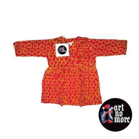 Baby batik wrap over dress (more colour variations) - artnomore.co.uk