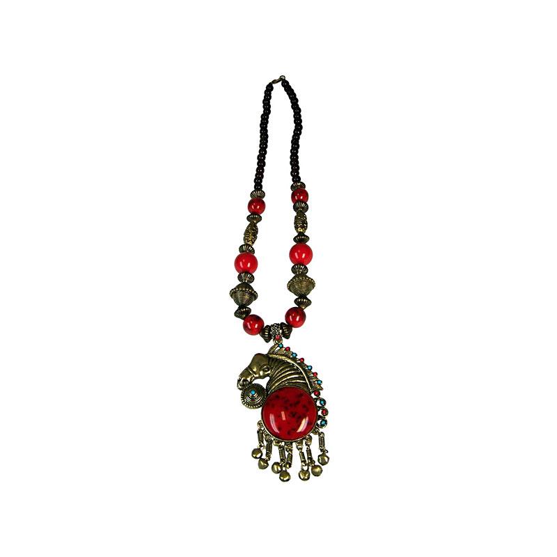 Tibetan Style Horse Necklace - artnomore.co.uk