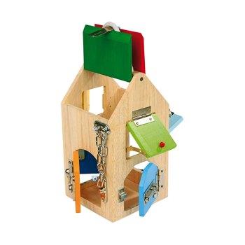House of locks – wooden educational toy by Legler - artnomore.co.uk