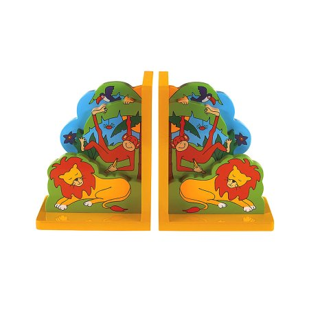 Lanka Kade wooden jungle fun bookend - Artnomore.co.uk