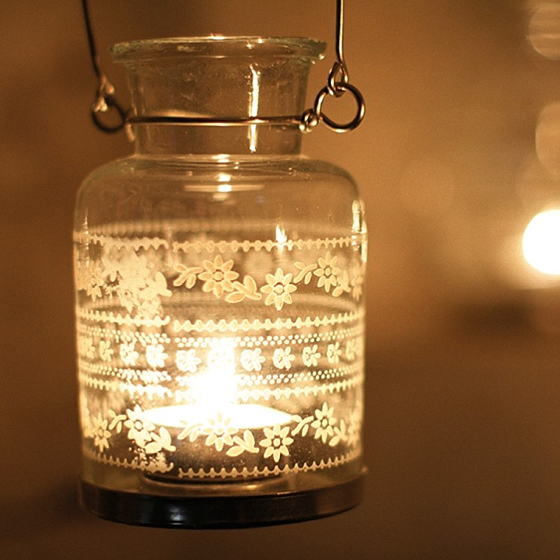 nkuku moonlight painted lantern - artnomore.co.uk