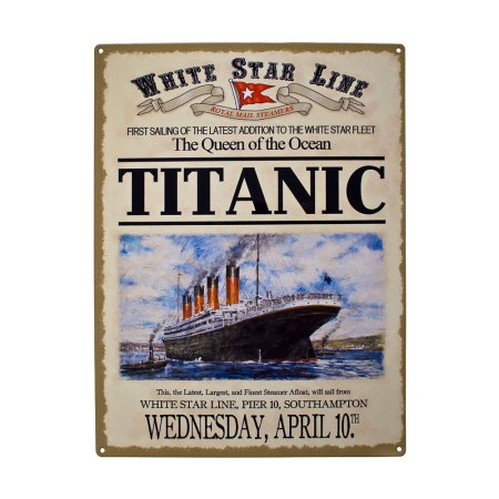 Titanic Advert Metal Sign Plaques