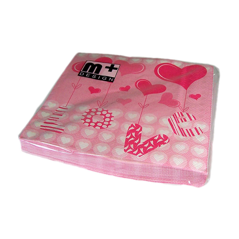 Valentine's Day Love & Hearts Gift Napkins - artnomore.co.uk