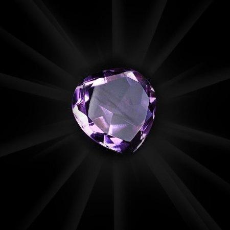 Plain Purple Crystal Heart artnomore.co.uk