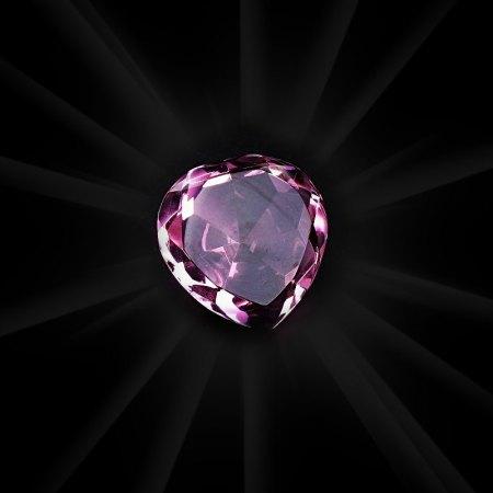 Plain Pink Crystal Heart - artnomore.co.uk