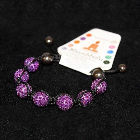 7 Amethyst Beads Shambhala Bracelet - artnomore.co.uk