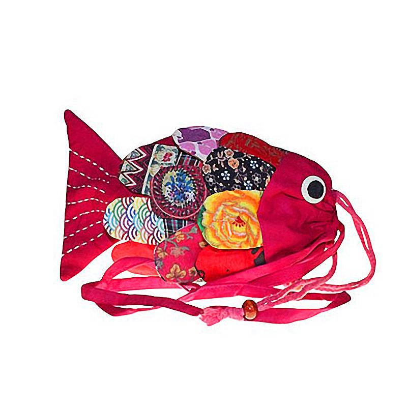Recycled Handmade Fish Bag - Pink
