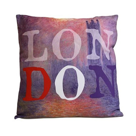 Art Cushion Cover - LONDON - Monet - artnomore.co.uk gift shop