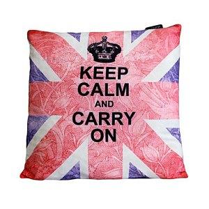 Art Cushion Cover - Keep Calm & Carry On - artnomore.co.uk gift shop