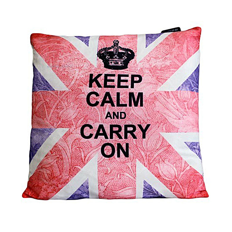Art Cushion Cover - Keep Calm & Carry On - artnomore.co.uk gift shop