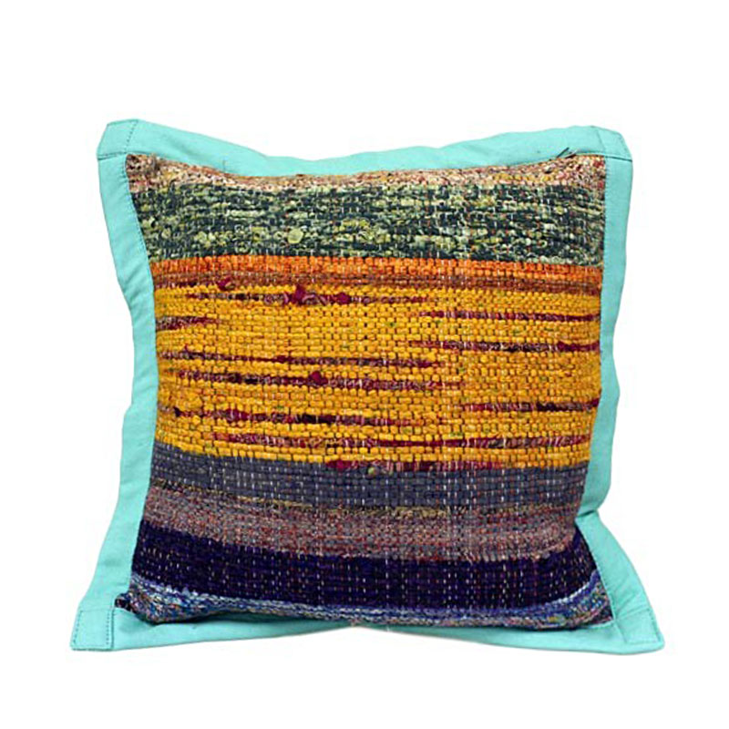 Rug Cushion Cover - Sea Green - artnomore.co.uk gift shop