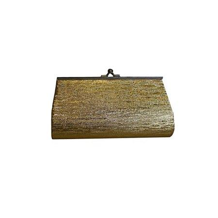 Medium Gold Clutch Bag