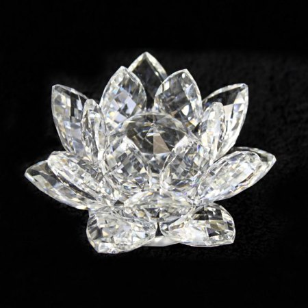 crystal lotus flower clear image